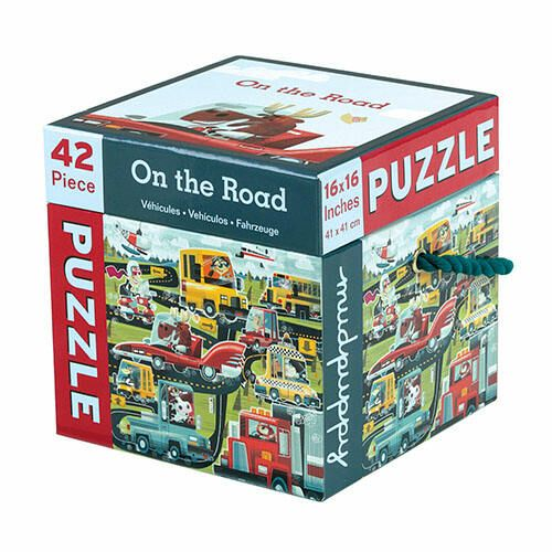 #Mudpuppy 42 Piece #Puzzle -- On the road