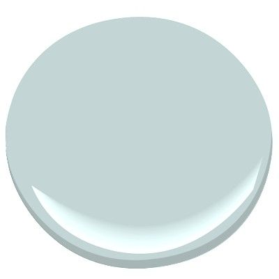 Benjamin Moore Harbour Haze-light, airy blue with a gray undertone