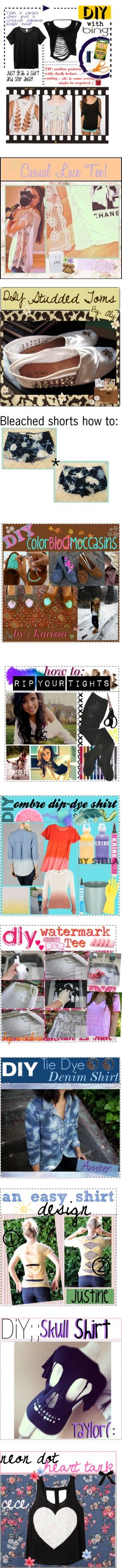 """""""Clothing DIYs (^U^)(-.-)"""" by sage2chip ❤ liked on Polyvore"""
