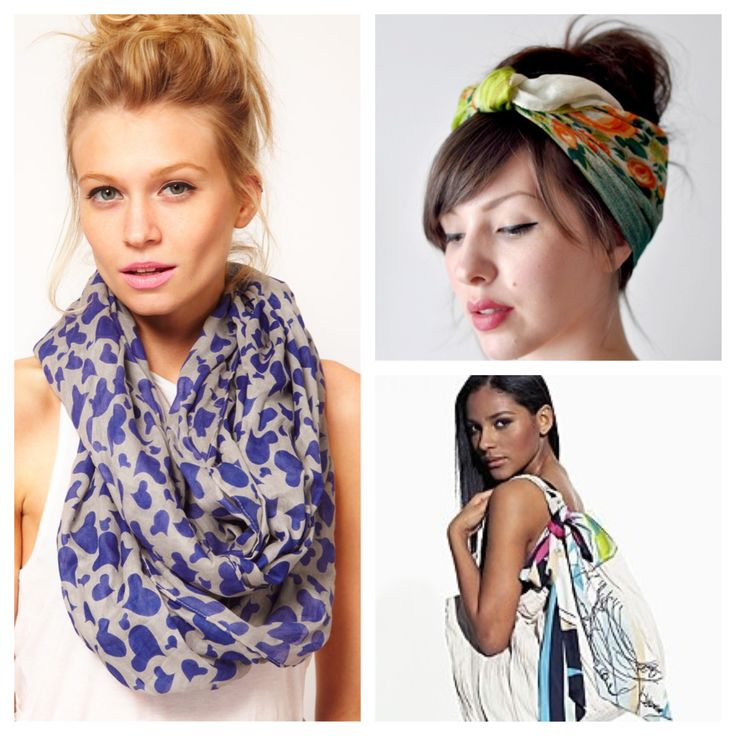 cool ways to wear a scarf silk print http trend kid