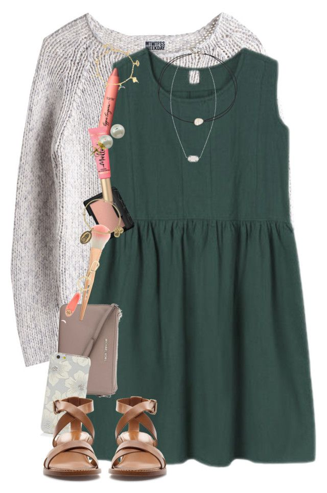 """Watching high strung "" by erinlmarkel ❤ liked on Polyvore featuring MTWTFSS Weekday, NARS Cosmetics, tarte, MICHAEL Michael Kors, Kate Spade, Tory Burch, Kendra Scott, Zara, Alex and Ani and Majorica"