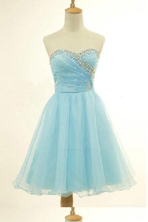 1280eb0cb6 Hot Sale Cute Short Homecoming Dresses Strapless Hoco Dresses ...