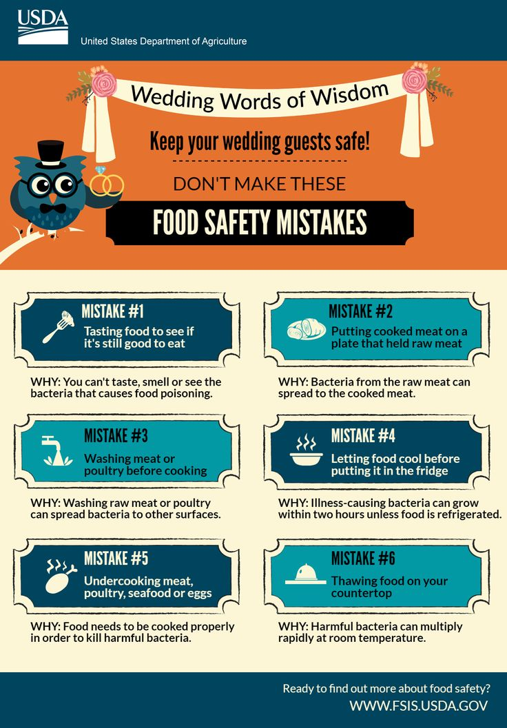 6 Food Safety Mistakes To Avoid On Your Wedding Day