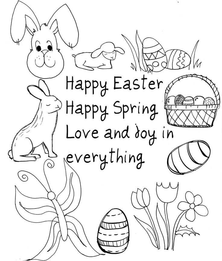 10 easter printable cards to color i just clicked on the image then copy and pasted it to print in word - Free Printable Easter Coloring Pages For Kids