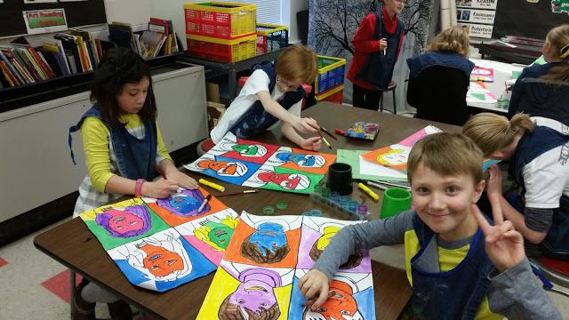Art with Mrs. Seitz: Andy Warhol Self-Portraits