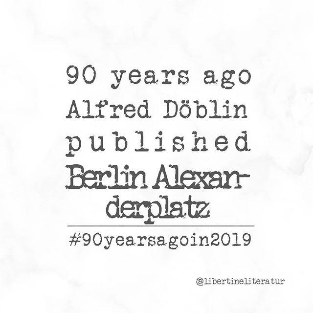 Werbung Irgendwann Im Jahre 1929 Erschien Alfred Doblins Berlin Alexanderplatz Wer Doblin Gelesen Ha Berlin Alexanderplatz Buchempfehlungen Literatur