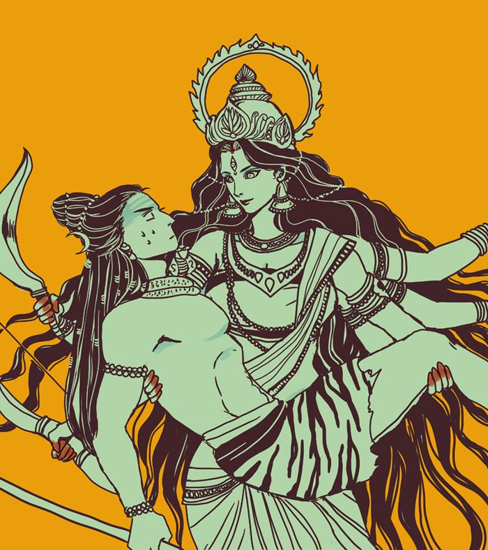 When You Come To Me As Durga Bearing Weapons In Your Hand And