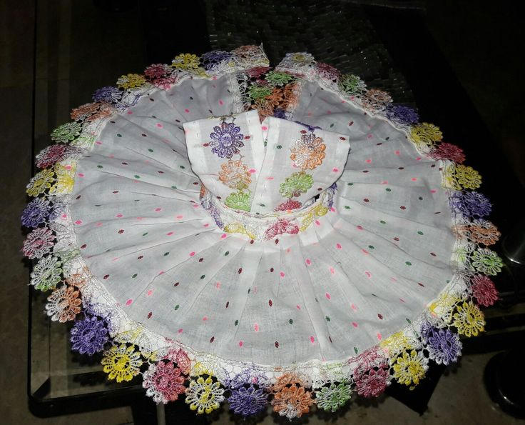Cotton dress for Thakurji