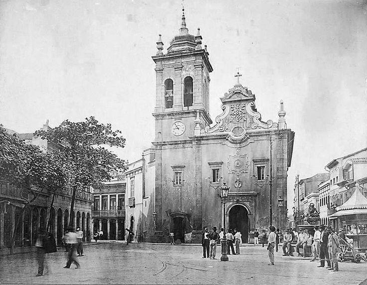 Largo de Santa Rita em 1904. Foto de Augusto Malta. Rio de Janeiro - Brasil.