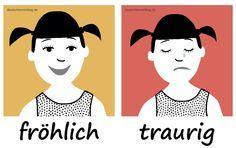 fröhlich_traurig_Adjektive_Deutsch_deutschlernerblog