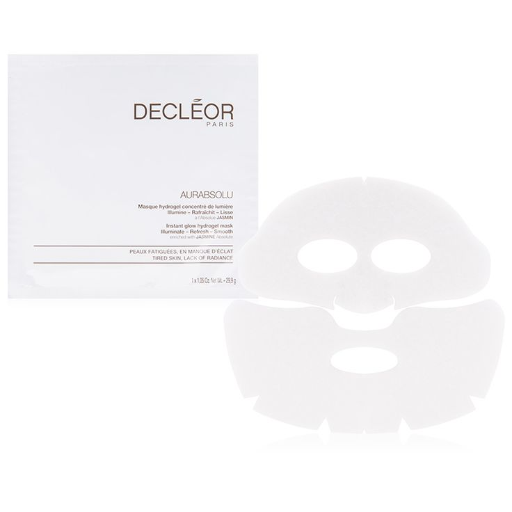 "Decleor Aurabsolu Instant Masks I use this one when I need a radiance boost. The star of this hydrogel mask is concentrated jasmine oil, which gives my complexion an instant glow and re-plumps my skin. I apply it at least once a week or before a big event when I want to look extra hydrated and well rested,"" says Dr. Dendy Engelman, M.D., director of dermatologic surgery at Metropolitan Hospital in New York City.Glow Hydrogel Mask"