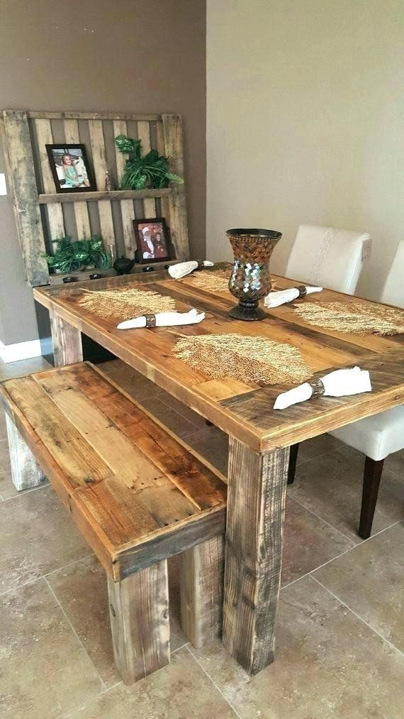 Farmhouse Style County Chic Rustic Living Room Long Dining