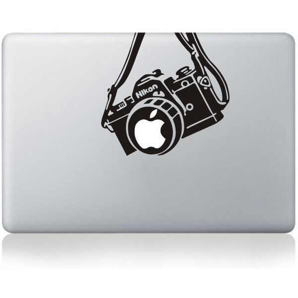 Mac Decal Mac Sticker Macbook Decals Macbook Stickers Vinyl Decal for... (£5.45) ❤ liked on Polyvore featuring electronics