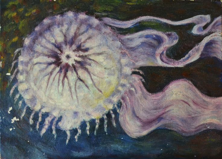 Temple al Huevo sisisii Una medusa y mi primer trabajo estudiando los métodos antiguos de pintura y conservación.
