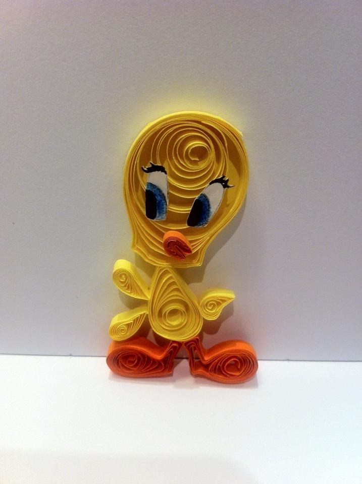 Tweety quilling by Bianca Paraschiv