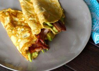 Savoury Paleo Crepes with Bacon and Avocado Recipe.