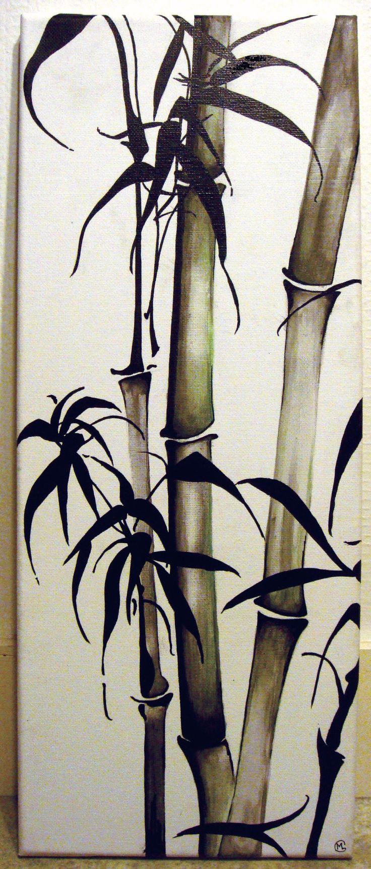Bambous encre de chine