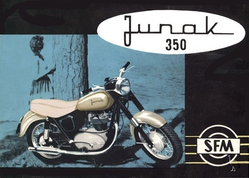 """Junak M10 350 Motorcycle Poland 1964 > for more infos see WiKi & Web, to see & hear the incredible sound of this masterpiece of engine see YouTube """"Junak M10"""""""