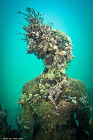 Exhibit by Jasondecairestaylor... so incredible  http://www.underwatersculpture.com/pages/gallery/vicissitudes.html