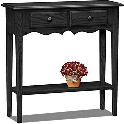 @Overstock.com - Slate Finish Petite Console - Solid ash top and oak veneersDovetailed solid wood drawer boxesBottom display shelf  http://www.overstock.com/Home-Garden/Slate-Finish-Petite-Console/6359055/product.html?CID=214117 $151.99