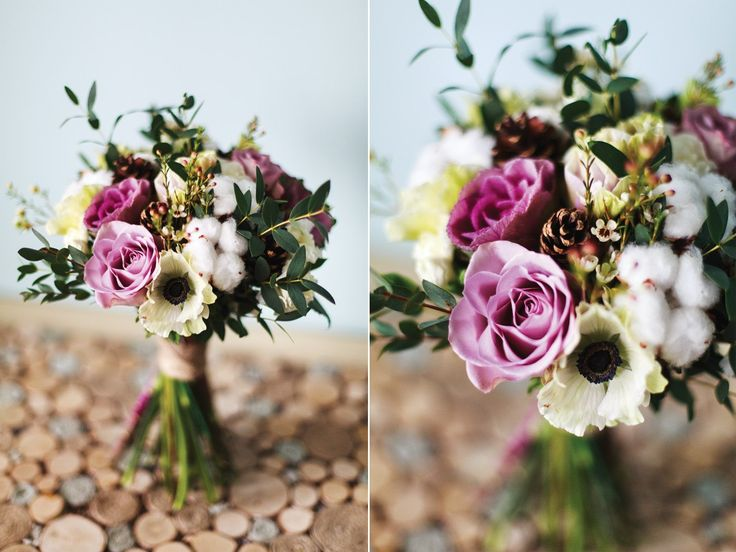 анемон, брассика, роза, гвоздика спрей, хамелациум, хлопок, шишки, эвкалипт. Букет, цветочная композиция, цветы