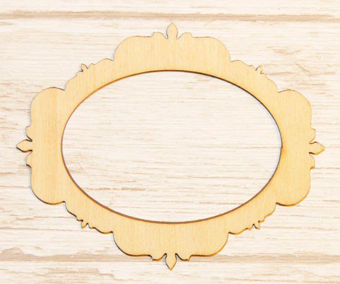 Ramka dekoracyjna ze sklejki R01 decorative frame