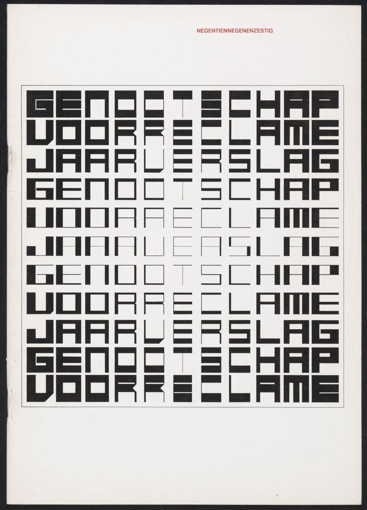 Jurriaan Schrofer - Genootschap voor reclame, Jaarverslag (Society of Advertising Annual Report) 1968