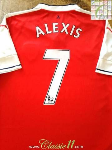 Official Puma Arsenal home football shirt from the 2016/17 season. Complete with Alexis #7 on the back of the shirt in official Premier League lettering.
