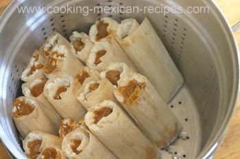 Pork Tamales...  This is the most wonderful recipe for tamales. When I first made them the recipe called for a couple of triangles of Mexican chocolate, the recipe is different now. I still make them the first way. They are not as scary as one might think. This is one of the best Mexican food sites ever! My next thing is gluten free torts.