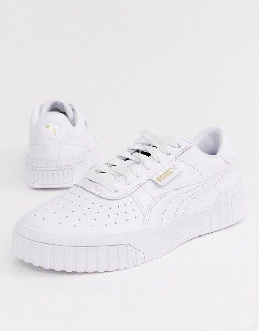 59e57c4fea4 Puma Cali Triple White Sneakers in 2019 | Clothing | White sneakers, Adidas  sneakers, Puma sneakers