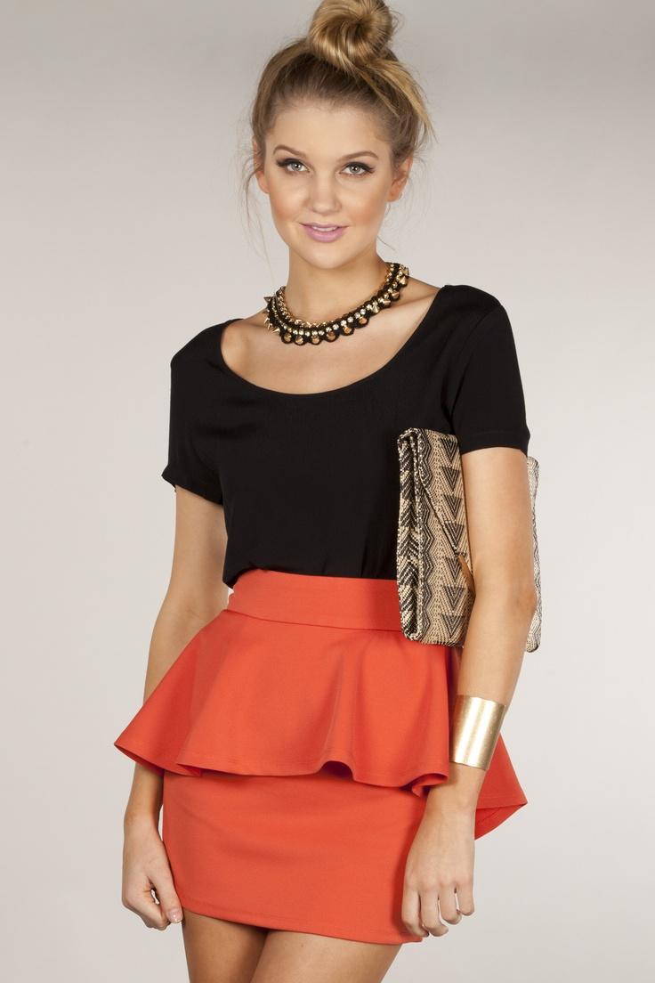 550894da9a Peplum Skirt Outfits Ideas – DACC