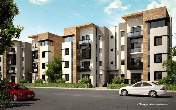 Kattamiyah plaza on behance i cepheler i pinterest for Fachadas de apartamentos modernos