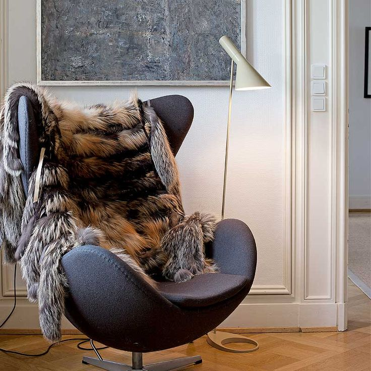 Egg chair (Fritz Hansen) + AJ floor lamp (Louis Poulsen - the perfect match!