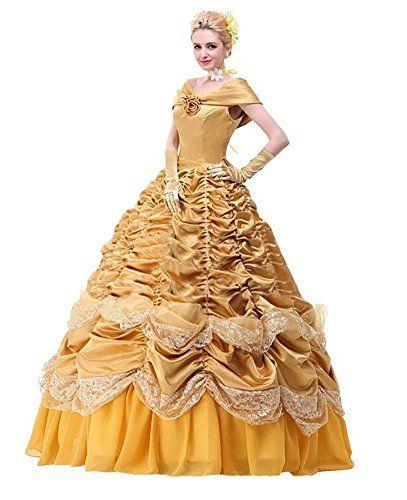 Women's Halloween Deluxe Princess Belle Costume Custom Size