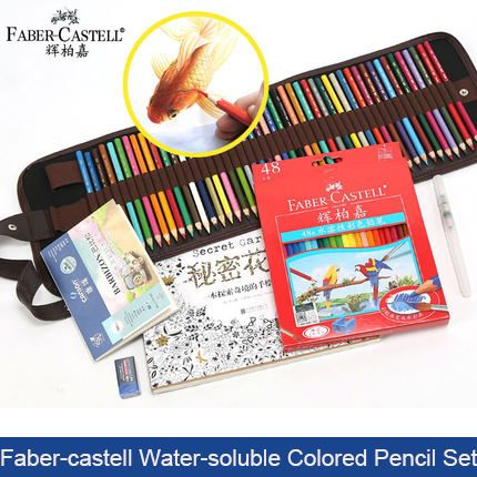 Faber Castell 48 Colors Secret Garden Coloring Water soluble Colored Pencil Set  School Supplies Art Supplies Student Stationery-in Standard Pencils from Office & School Supplies on Aliexpress.com | Alibaba Group