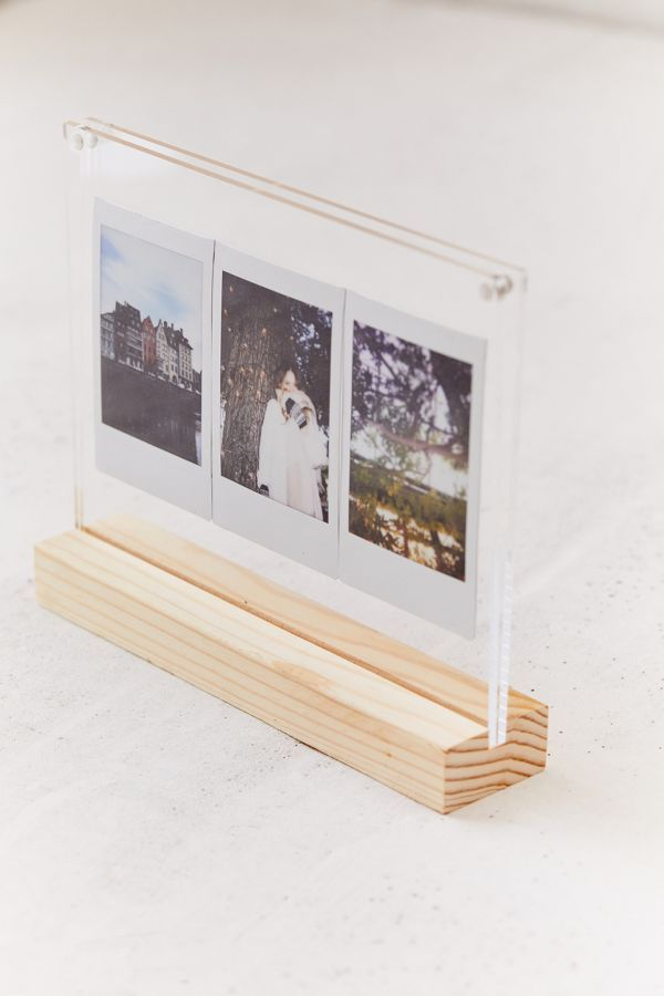 Wood Acrylic Block Picture Frame Picture Frames Picture On Wood Diy Picture Frames