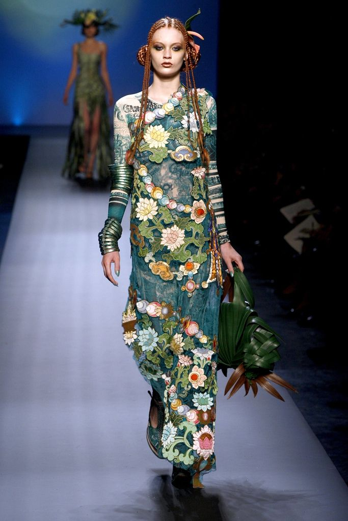 Jean Paul Gaultier HAUTE COUTURE SPRING/SUMMER 2010 - divine embroidery - this designer is SO clever...