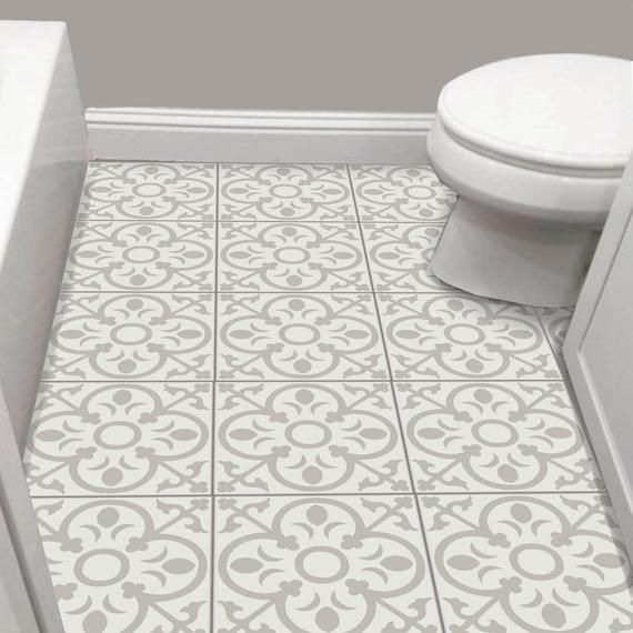 Tile Sticker Kitchen Bath Floor Wall Waterproof Removable Etsy Tile Stickers Kitchen Wall Waterproofing Flooring