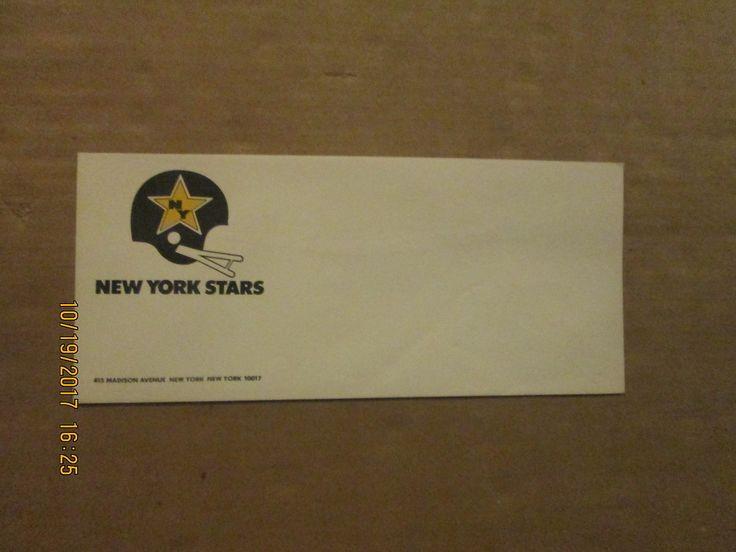 WFL New York Stars Vintage Defunct Team Logo Football Business Envelope