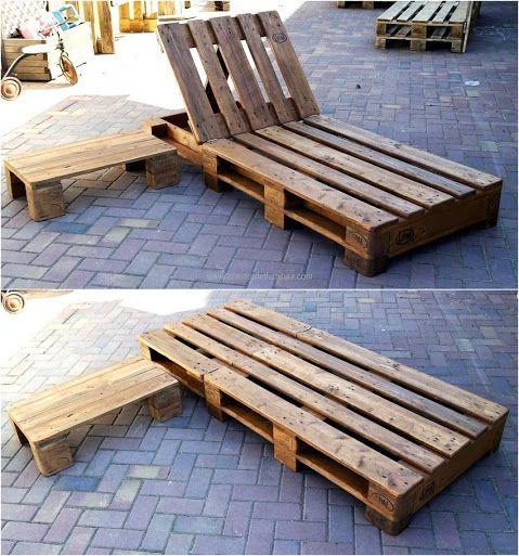 wood pallet sun lounger idea