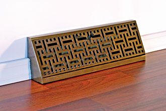 Accord Ventilation Products Antique Brass Wicker