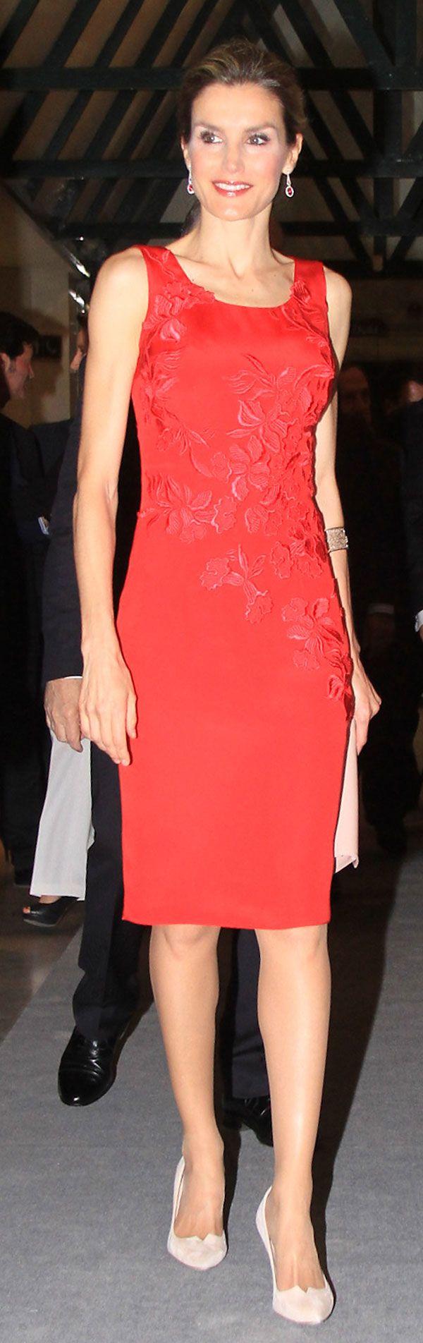La princesa Letizia durante una cena organizada por la Cámara de Comercio de Sevilla en Sevilla, martes 20 de mayo 2014