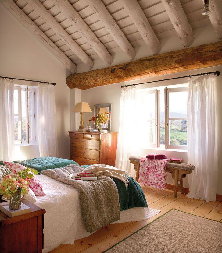 Спальни в деревянных домах, из которых не захочется выбираться | Пуфик - блог о дизайне интерьера