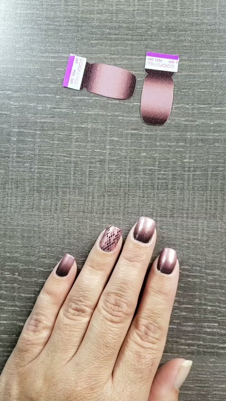 Application of Color Street nail polish strips. Pick Your