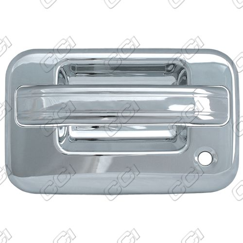 Ford F150  2004-2013 2 Door,  Chrome Door Handle Covers -  w/ Passenger Keyhole  w/o Keypad