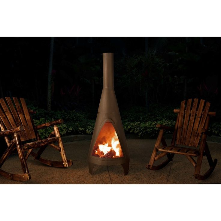 Sunjoy Colby 55-inch Contemporary Steel Chiminea