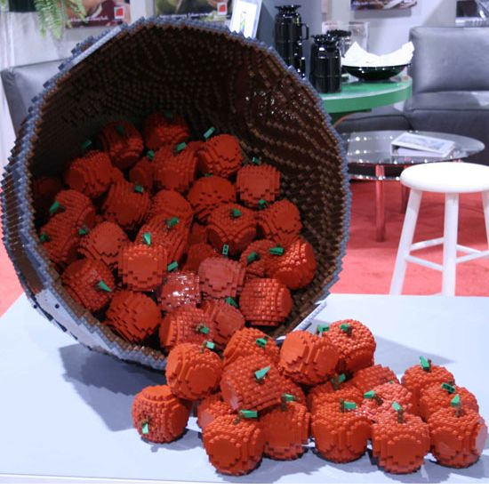 Awesome LEGO Creations - Lego basket of strawberries - Click Pic for 25 #lego #party #ideas