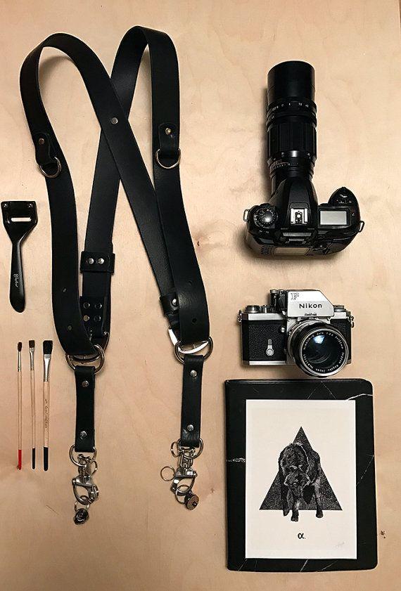 Doppia fotocamera cinturino cuoio fotocamera Harness macchina