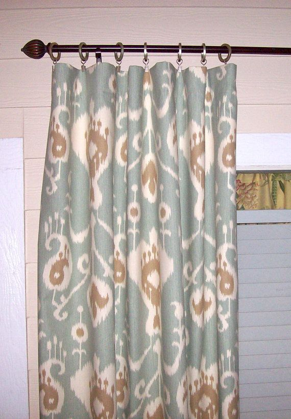 Superior SALE Java Spa Ikat Curtain Panels 50 X 84