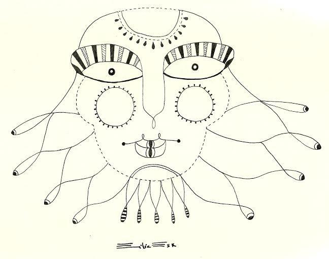 """Andrógino medusa"" Dibujo en rapidografo Autoria: Emilia Escalante Ariza"